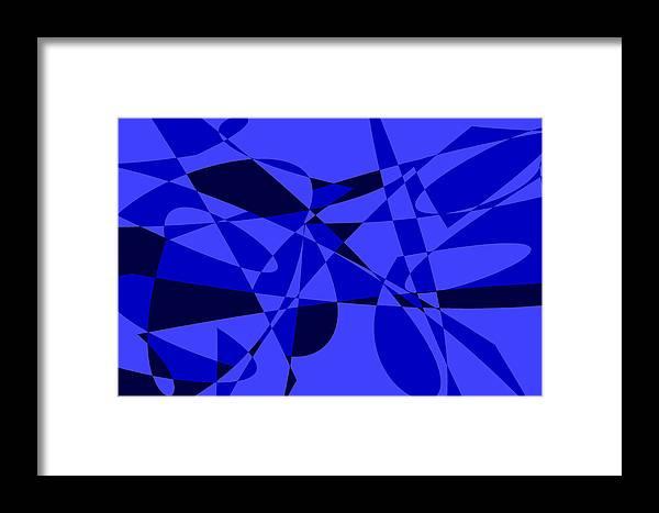 Original Framed Print featuring the digital art Abstract 153 by J D Owen