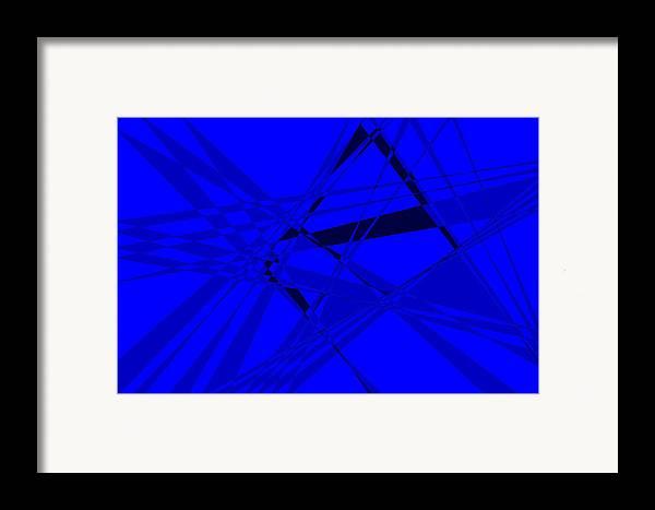 Original Framed Print featuring the digital art Abstract 156 by J D Owen