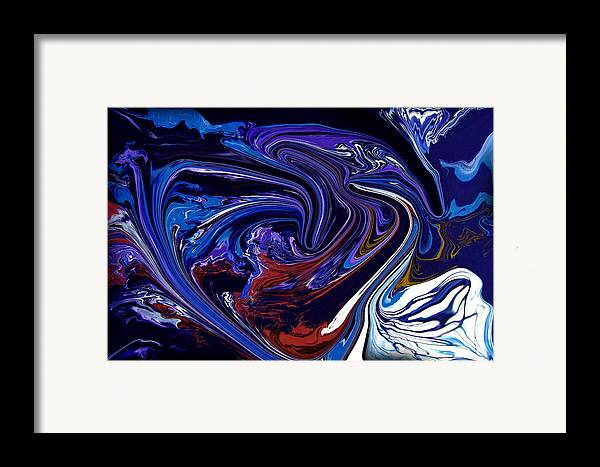 Original Framed Print featuring the painting Abstract 170 by J D Owen