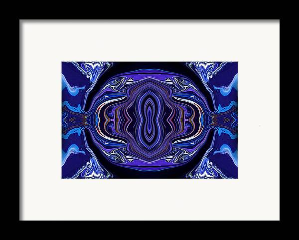 Original Framed Print featuring the painting Abstract 172 by J D Owen