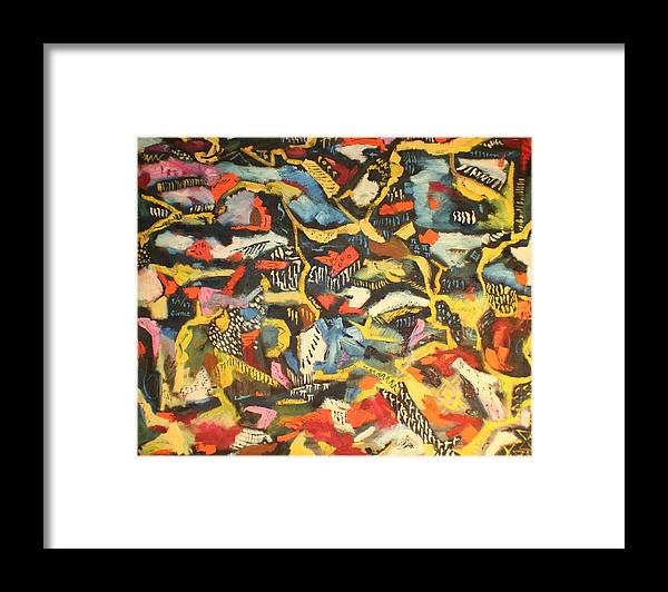 Framed Print featuring the painting Abstract 1957 by Biagio Civale
