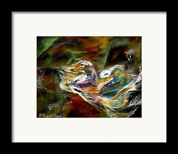 Abstract Framed Print featuring the painting Abstract 2 by Francoise Dugourd-Caput