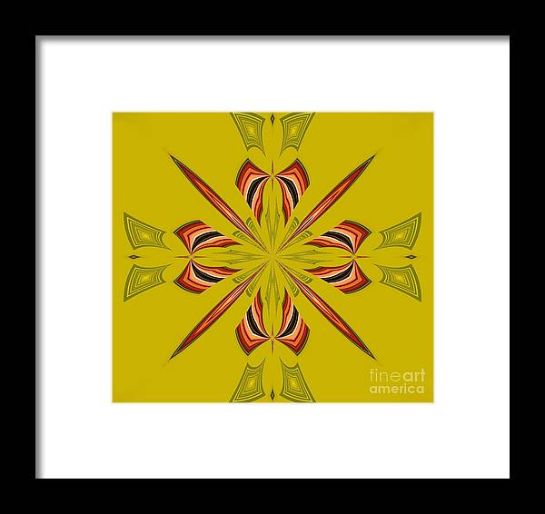Abstract 234 Framed Print featuring the digital art Abstract 234 by Maria Urso