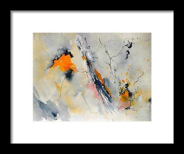 Abstract Framed Print featuring the painting Abstract 416032 by Pol Ledent