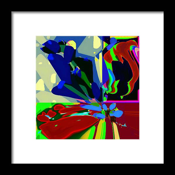 Abstract Framed Print featuring the digital art Abstract 52 by Ck Gandhi