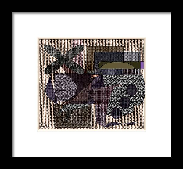 Abstract Framed Print featuring the digital art Abstract 650 by Iris Gelbart