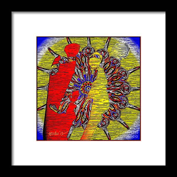 Paintings Framed Print featuring the painting Abstract 830 by Nedunseralathan R