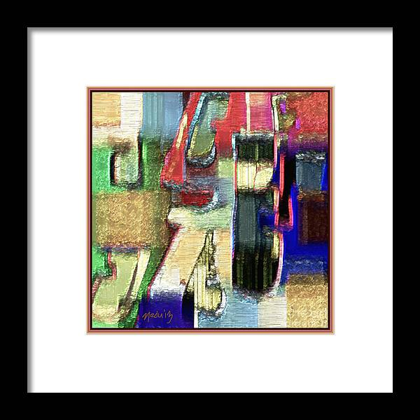 Fine Art Framed Print featuring the painting Abstract 927 by Nedunseralathan R