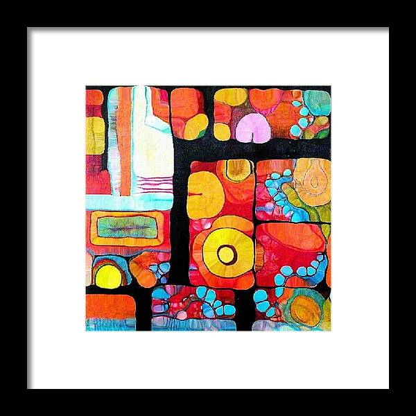 Framed Print featuring the photograph Abstract Acrylic by Robin Mead