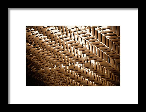 Material Framed Print featuring the photograph Abstract Architectural Pattern by Lena serditova