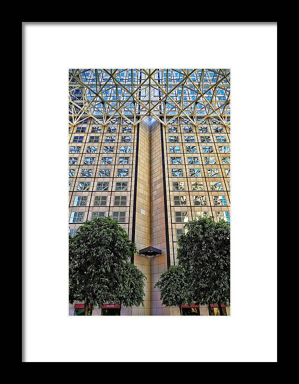Modern Framed Print featuring the photograph Abstract Architecture by Rudy Umans