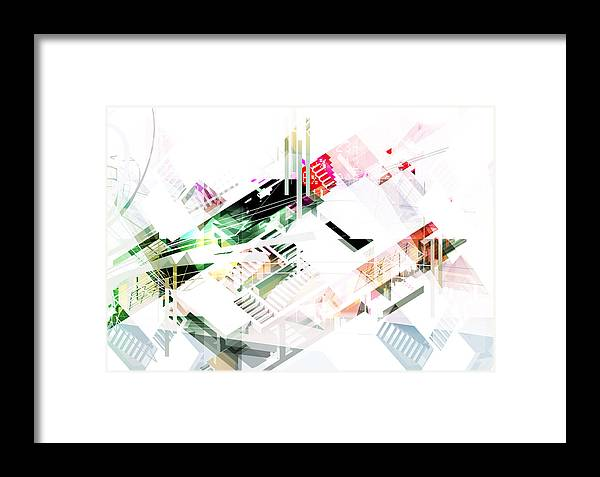 Architecture Framed Print featuring the digital art Abstract Architecture Space by Shivendu Jauhari