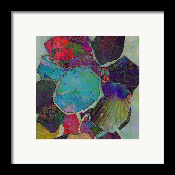 Abstract Abstracts Framed Print featuring the mixed media Abstract Art Torn Collage by Ann Powell