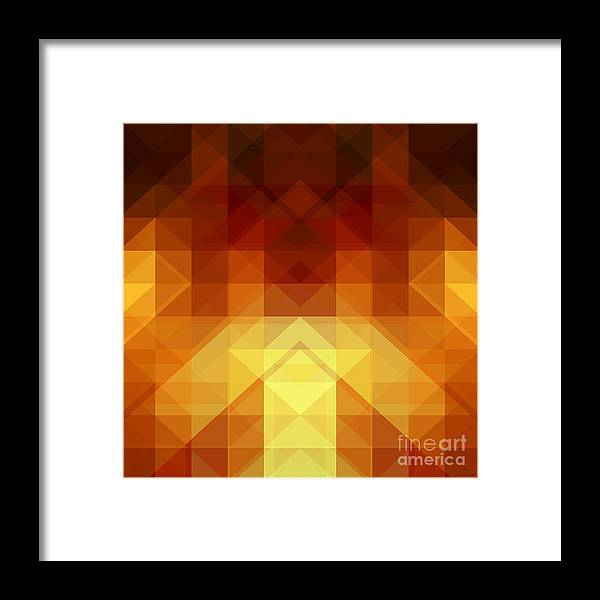 Hipster Framed Print featuring the digital art Abstract Background From Triangle Shapes by Ksanagraphica