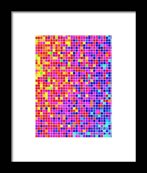 Color Framed Print featuring the digital art Abstract Background, Vector Without by Gala