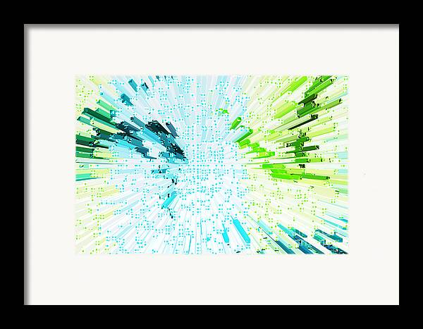 Fun Framed Print featuring the photograph Abstract - Be Happy by Natalie Kinnear