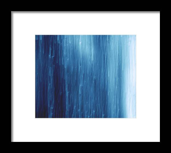 Dark Framed Print featuring the photograph Abstract Blue Rain by Jozef Jankola