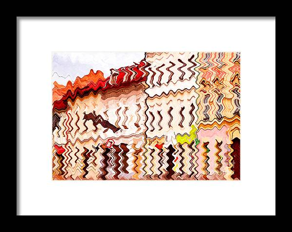 Abstract Framed Print featuring the photograph Abstract Buildings by Les Palenik