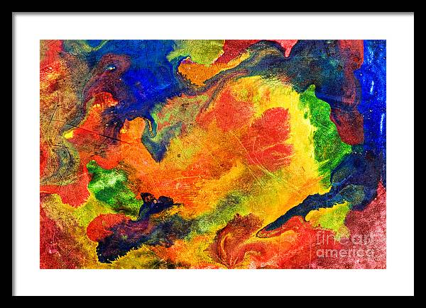 Color Framed Print featuring the photograph Abstract Colorful Background by G J