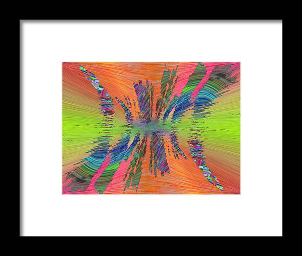 Abstract Framed Print featuring the digital art Abstract Cubed 168 by Tim Allen