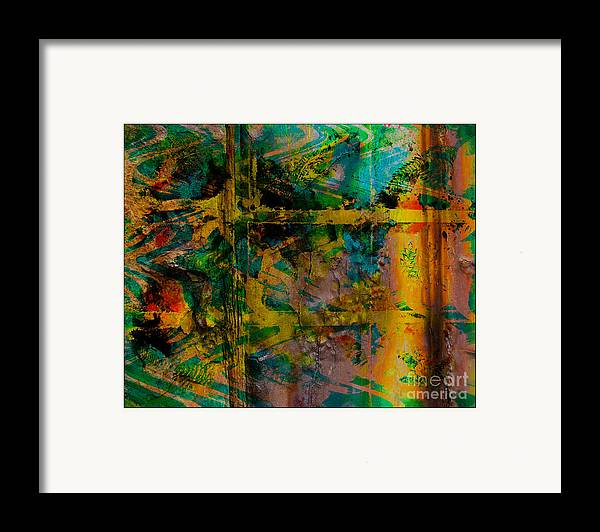 Front Framed Print featuring the digital art Abstract - Emotion - Facade by Barbara Griffin