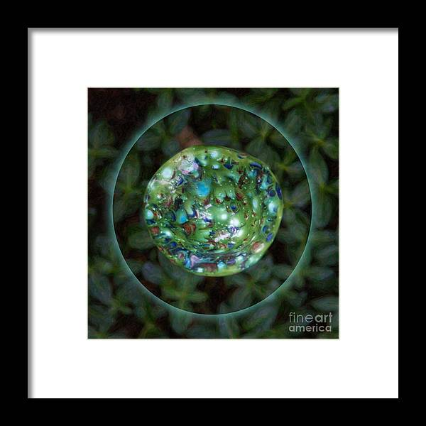 1x1 Framed Print featuring the photograph Abstract Fairy House Garden Art By Omaste Witkowski Owfotografik by Omaste Witkowski