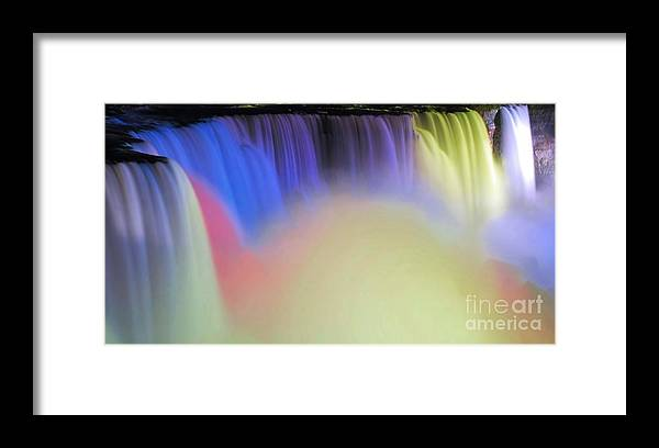 Niagara Framed Print featuring the photograph Abstract Falls by Kathleen Struckle