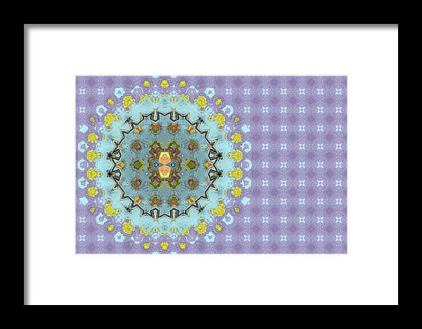 Background Framed Print featuring the digital art Abstract Floral by Susan Leggett