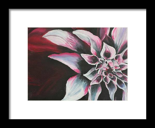 Flower Framed Print featuring the painting Abstract Flower by Rachel Ziemann