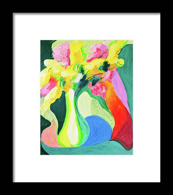Art Framed Print featuring the digital art Abstract Flowers by Balticboy