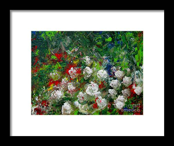 Painting Framed Print featuring the painting Abstract Flowers by Wendy Marelli