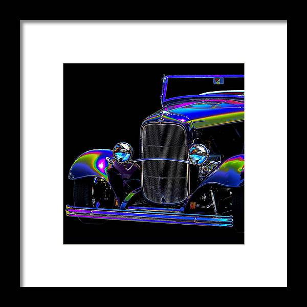 Car Framed Print featuring the photograph Abstract Ford - Classic Hotrods by William Bartholomew