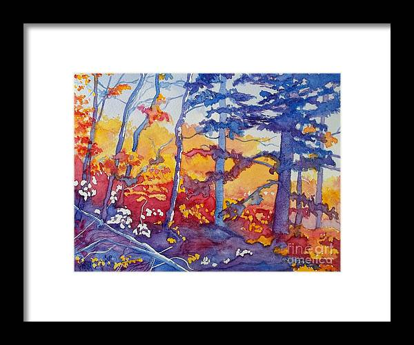 Abstract Forest Framed Print featuring the painting Abstract Forest No. 1 by Lise PICHE