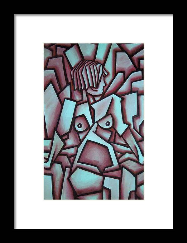 Abstact Framed Print featuring the painting Abstract Girl by Thomas Valentine