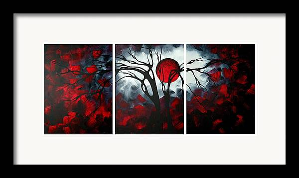 Abstract Framed Print featuring the painting Abstract Gothic Art Original Landscape Painting Imagine By Madart by Megan Duncanson