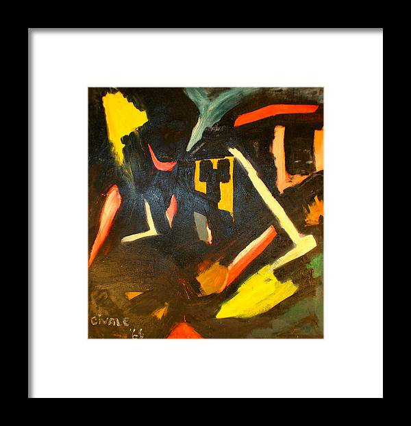 Framed Print featuring the painting Abstract Houses by Biagio Civale