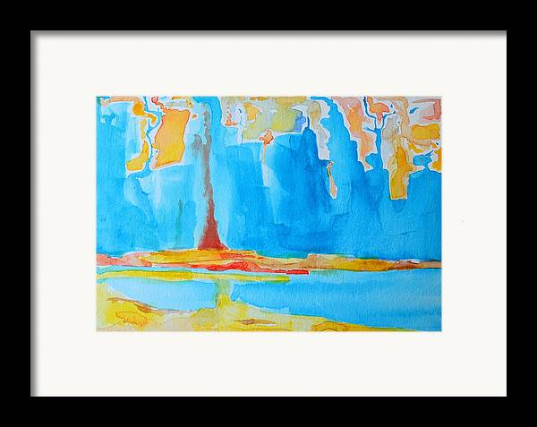Abstract Watercolor Framed Print featuring the painting Abstract II by Patricia Awapara