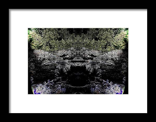 Framed Print featuring the photograph Abstract Kingdom by Jeff Swan