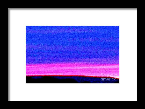 Abstract Framed Print featuring the photograph Abstract Landscape by Eric Schiabor
