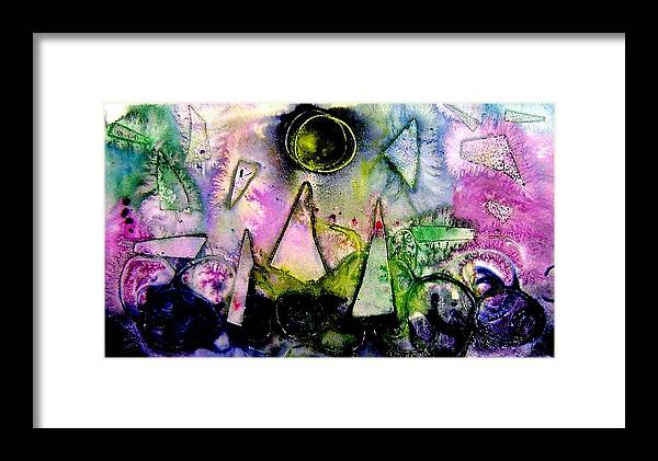 Abstract Landscape Framed Print featuring the mixed media Abstract Landscape I by John Nolan