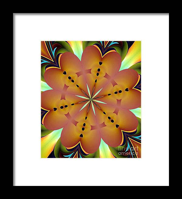 Abstract 144 Framed Print featuring the digital art Abstract by Maria Urso
