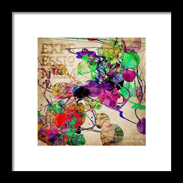 Abstract Framed Print featuring the digital art Abstract Mixed Media by Phil Perkins