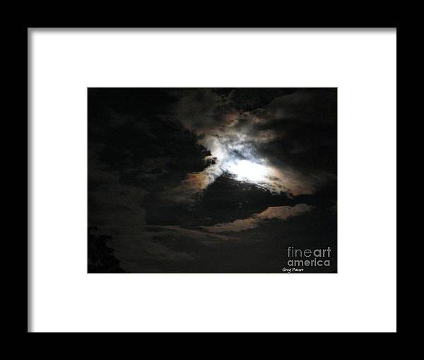 Patzer Framed Print featuring the photograph Abstract Moon by Greg Patzer