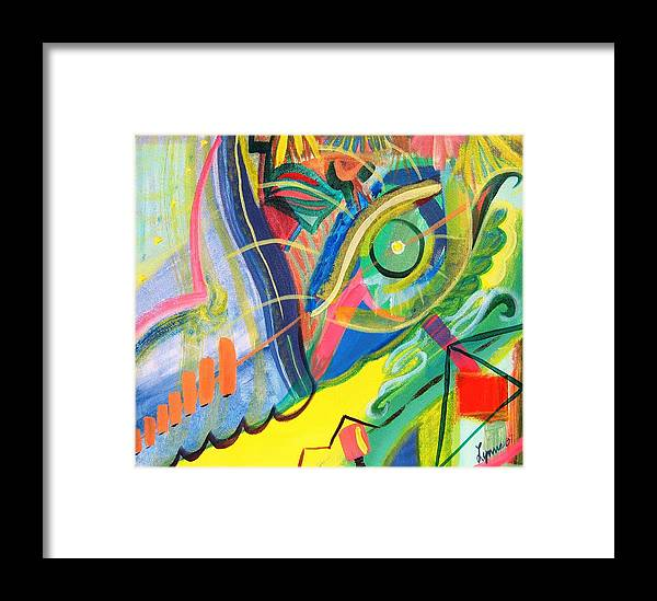 Abstract Framed Print featuring the painting Abstract No. 1 by Lynne Rene