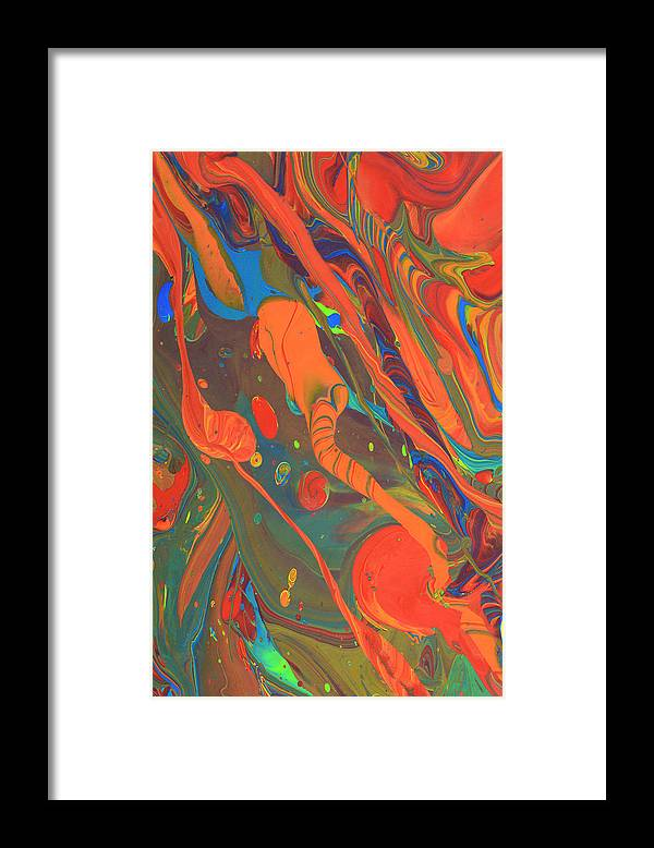 Full Frame Framed Print featuring the photograph Abstract Paint Background by Don Farrall