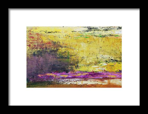 Oil Painting Framed Print featuring the photograph Abstract Painted Yellow Art Backgrounds by Ekely
