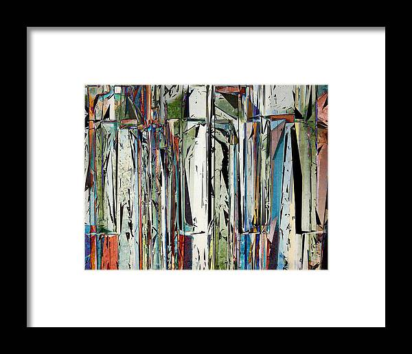 Piano Framed Print featuring the digital art Abstract Piano Keys by Phil Perkins