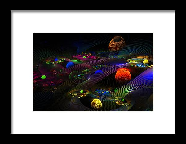 Abstract Psychedelic Fractal Art Framed Print featuring the photograph Abstract Psychedelic Fractal Art by Keith Webber Jr