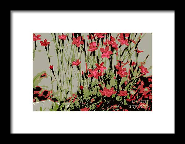 Red Framed Print featuring the photograph Abstract Red Flowers by Kenny Glotfelty