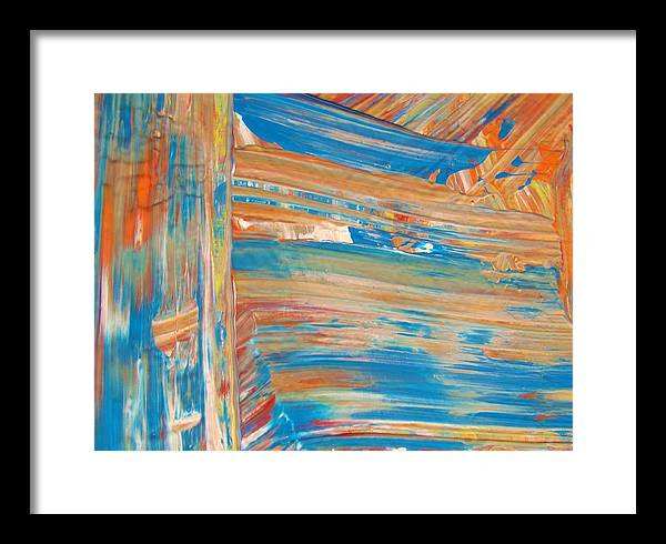 Original Framed Print featuring the painting Abstract Rights by Artist Ai
